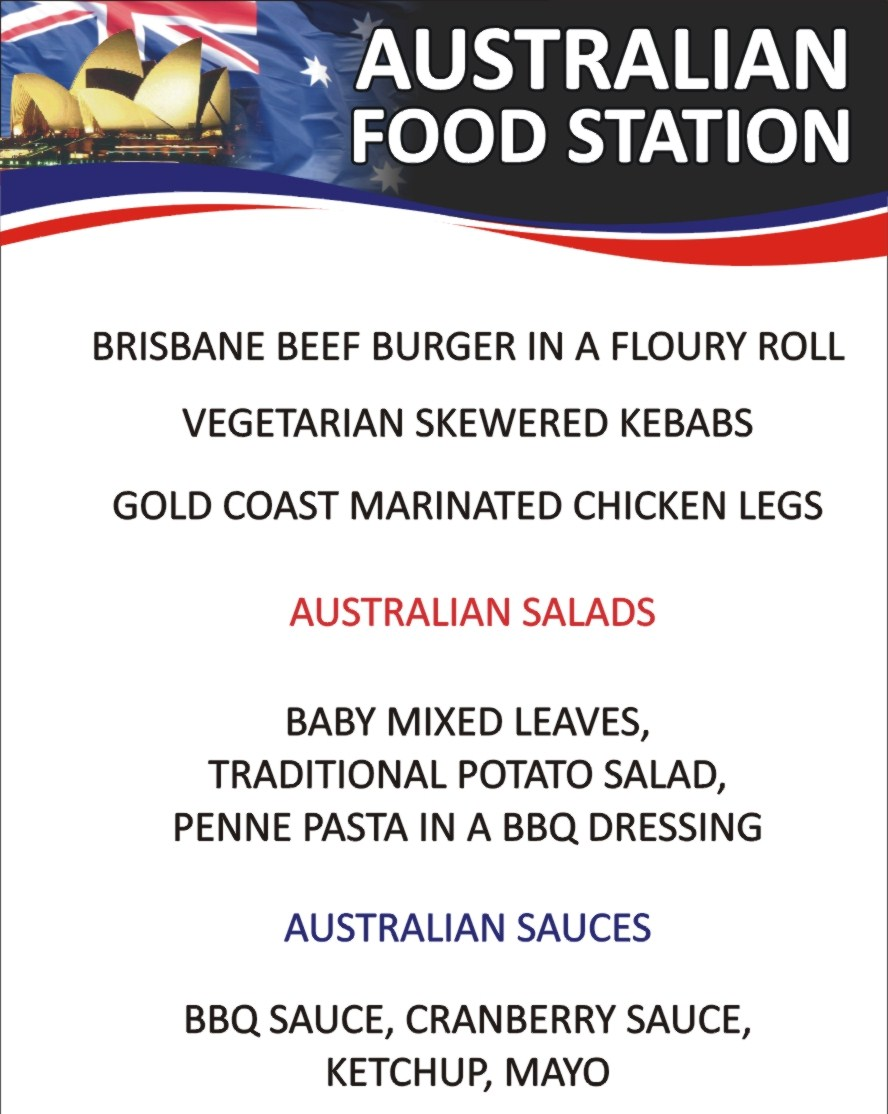 Spit roast roast pig spit roast pig catering for for Australian cuisine menu